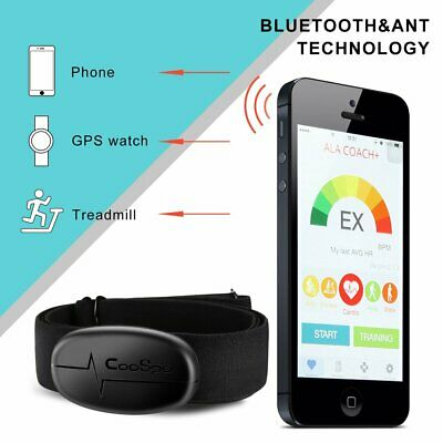 Heart Rate Sensor W/ Chest Strap - Sensor And Strap Included Bluetooth 4.0 ANT+ (Bluetooth Heart)