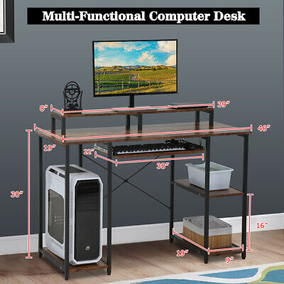 Computer Desk Home Office Desk 46 inches Gaming Writing Desk Student Girl Kids Furniture