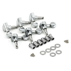 E-Gitarren Lock Locking Tuners Klemm Mechaniken Schaller Style 6 Chrome