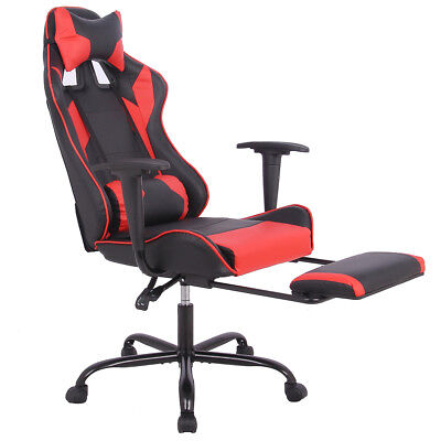 New Gaming Chair High Back Office Chair Racing Style Lumbar Support   Headrest