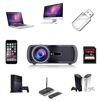 7000 Lumens Full HD 1080P LED LCD 3D VGA HDMI TV Home Theater Projector Cinema T