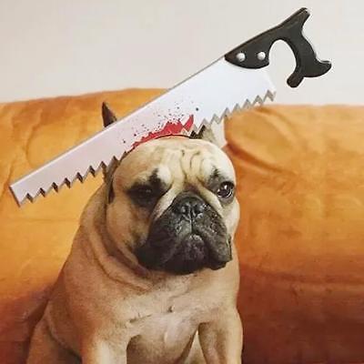 Creative Pet Dog Cat Puppy  Headbands Saw Axe Halloween Costume Dress Up Q](Guy Halloween Costumes Creative)