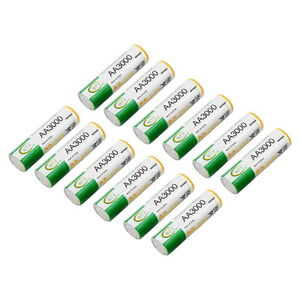 12 pcs AA LR06 3000mAh 1.2V NI-MH Rechargeable battery CELL RC BTY New GR