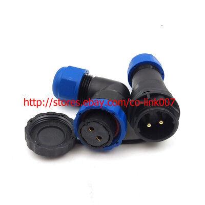 Ip65 2pin Waterproof Connector Sd20 Industrial Connector Plug Female Socket Male