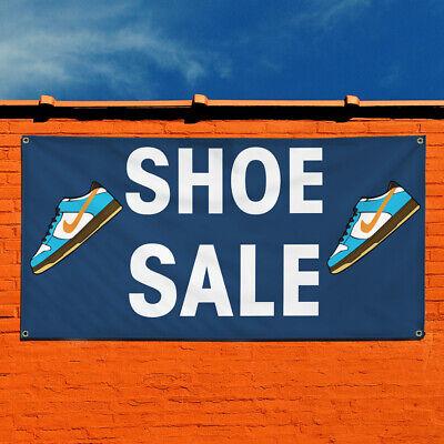 Vinyl Banner Sign Shoe Sale 1 Business Shoe Sale Marketing Advertising Blue