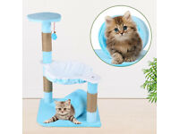 Climbing Frame Board Pets Jumping Holding Platform Pillar Sticks with Sound Bell Scratching Frame