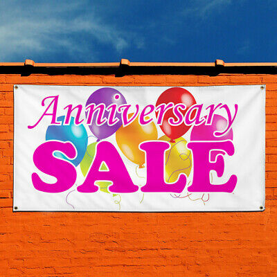 Vinyl Banner Sign Anniversary Sale Business Style S Marketing Advertising White