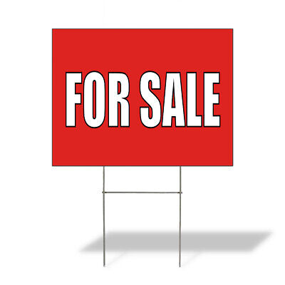 Weatherproof Yard Sign For Sale Outdoor Advertising Printing I Red Lawn Garden