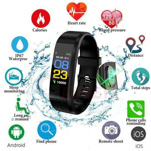 Fitness Smart Watch Activity Tracker Women Men Kids For Andr