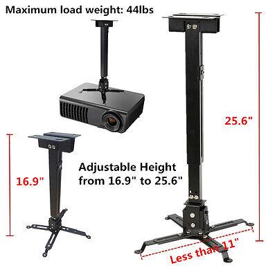 New Universal Extendable Tilt DLP LCD Ceiling Projector Mount Bracket 44 lbs BH