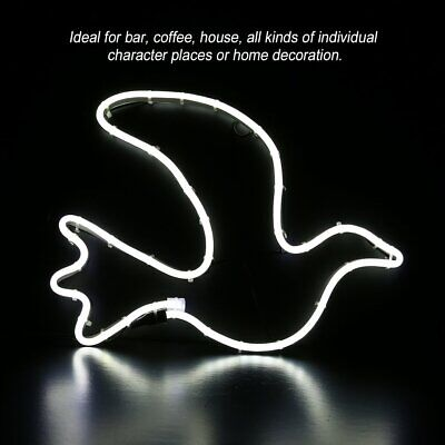 LED Neon Sign Night Light Wall Pigeon Artwork Bar Lamp Home Party Xmas Decor CR