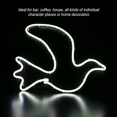 LED Neon Sign Night Light Wall Pigeon Artwork Bar Lamp Home Party Xmas Decor wA