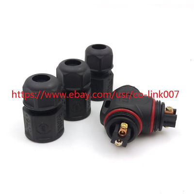 L20-3t 2 Pin Waterproof Connector Ip67 High Voltage Solder Free Power Connector