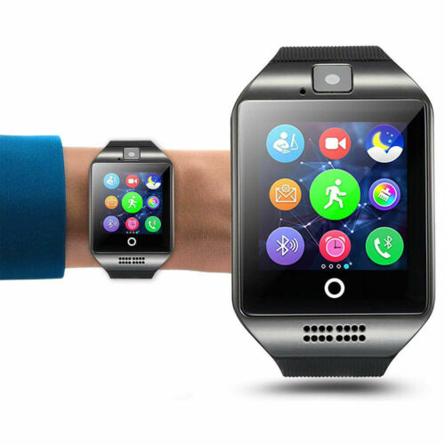 Armbanduhr Bluetooth Smartwatch Handy Mit SIM Slot+Kamera Für Android iPhone Q18