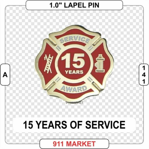 15 Years Service Award Lapel Pin Length of Firefighter Fire Department - A 141
