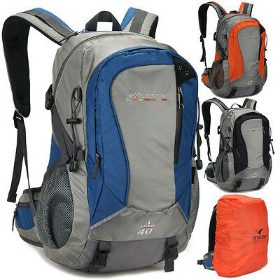 40L Waterproof Travel Sport laptop Hiking camping Backpack bag Men Women gift