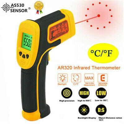 Infrared Gun Thermometer Temperature Thermal Heat Digital Sensor Temp Meter Ir