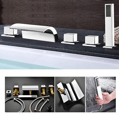 5 Loch Duschset Badewannenarmatur Wannenarmatur Wasserhahn Badewanne Handbrause