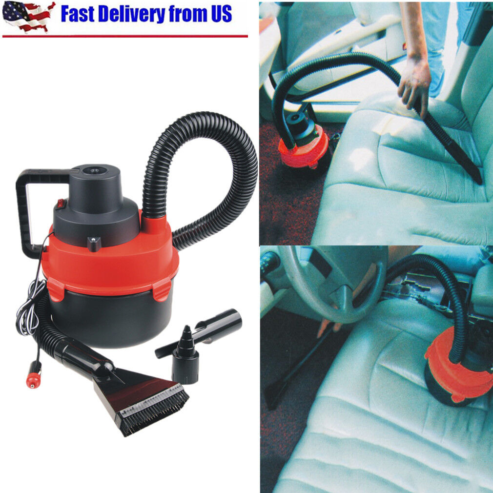 12V Portable Wet & Dry Outdoor Mini Car Boat RV Vacuum Clean