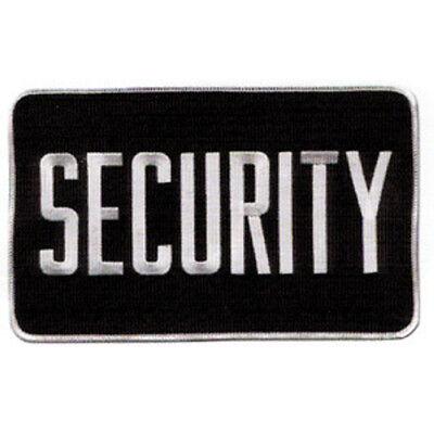 Medium Security Patch Badge Emblem 5 Inches X 7 12 Inches Whiteblack
