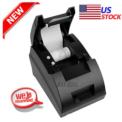USB Mini 58mm POS Printer 384 Line High Speed Thermal Dot Receipt Printer Set @