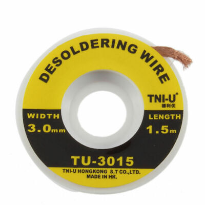 5 Feet 1.5m 3mm Desoldering Braid Solder Remover Wick Wire Repair Tool