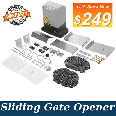 3300lbs Sliding Electric Gate Opener Automatic Motor Remote Kit Fencing Sets Usa