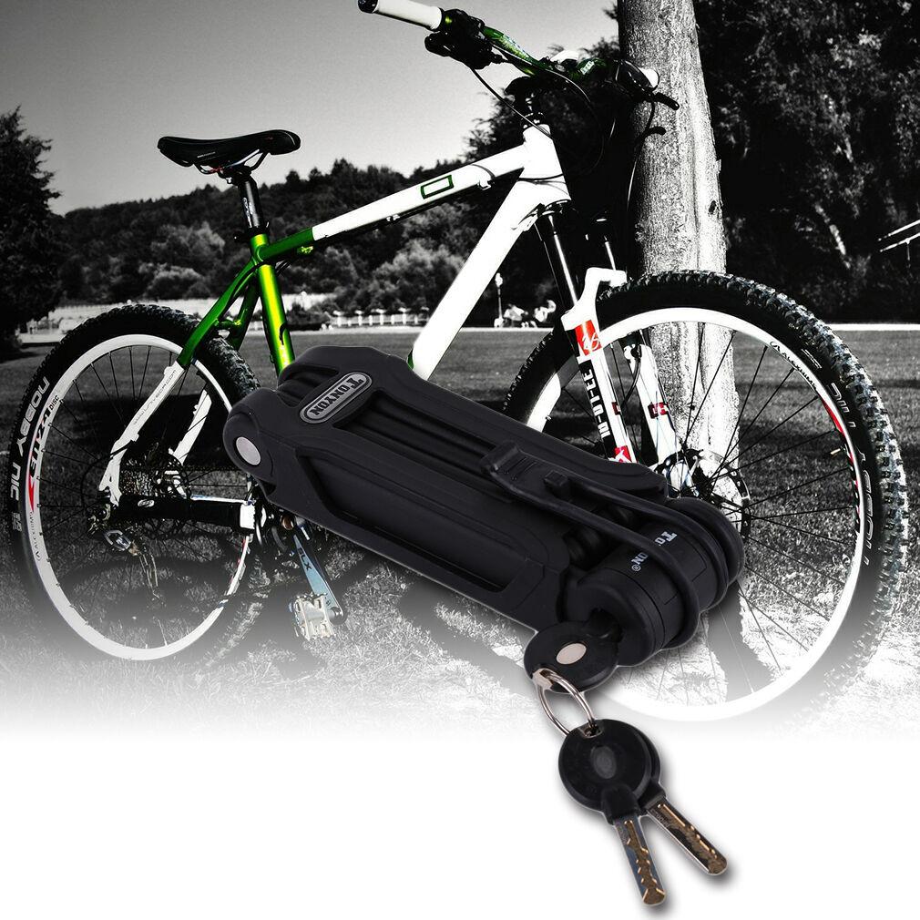 Folding Bike Lock, Ultra Strong Steel Alloy Metal Bone with