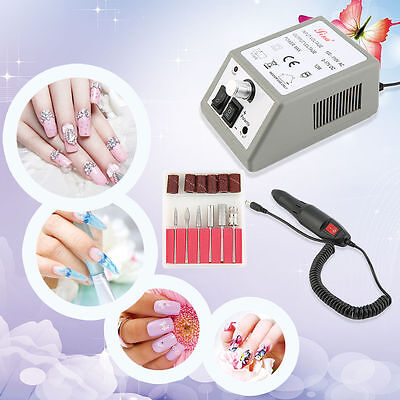 PROFESSIONAL ELECTRIC NAIL FILE DRILL Manicure Tool Pedicure Machine Set kit