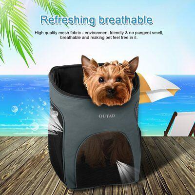 OUTAD Pet Dog Cat Carrier Mesh Backpack Adjustable Ultra-soft Liner Travel Bag