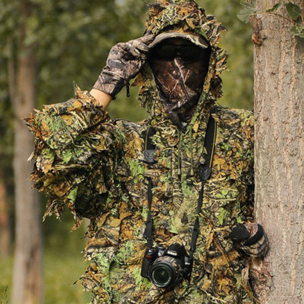 4144ab67c00b1 Details about Pratical Camo Camouflage Clothing Leafy Woodland Hunting Camo  Jungle Suit Kit