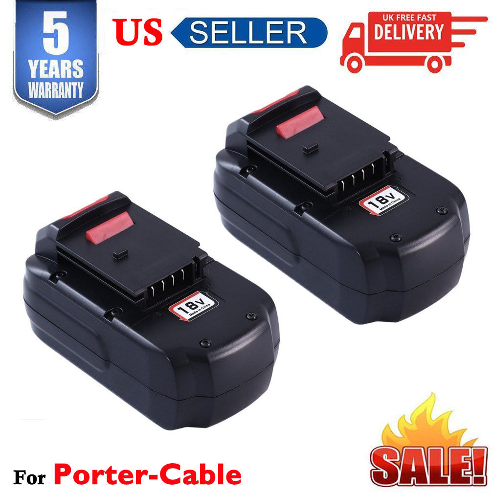 2Pack 18V NiCd Battery for Porter Cable PC18B PCC489N PC18B-2 PC188 PCMVC PC18SS