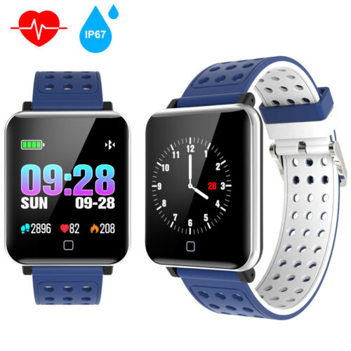 Wasserdicht Bluetooth Fitnesstracker Fitnessuhr Smart Armbanduhr Smartwatch IP67