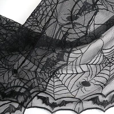 Halloween Lace Tablecloth for Halloween Parties Decor &Spooky Meals,48 x 96
