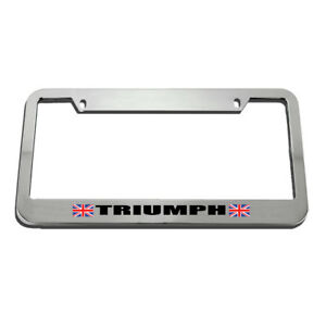 Triumph License Plate Frame Tag Holder