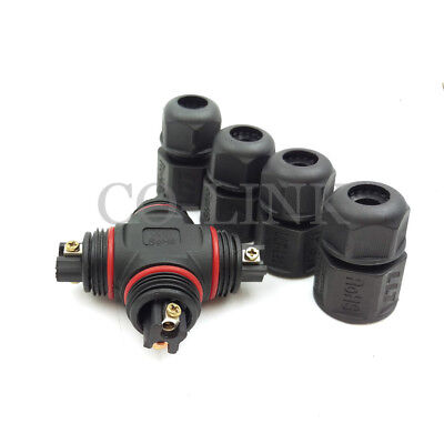 L20 2pin Waterproof Connector Ip67 Cross Type High Voltage Power Connector