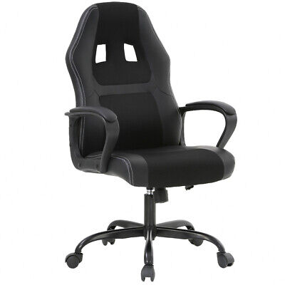 New Office Chair Gaming Chair Desk Ergonomic Leather Computer Chair w Metal (Metal Desk Chair)