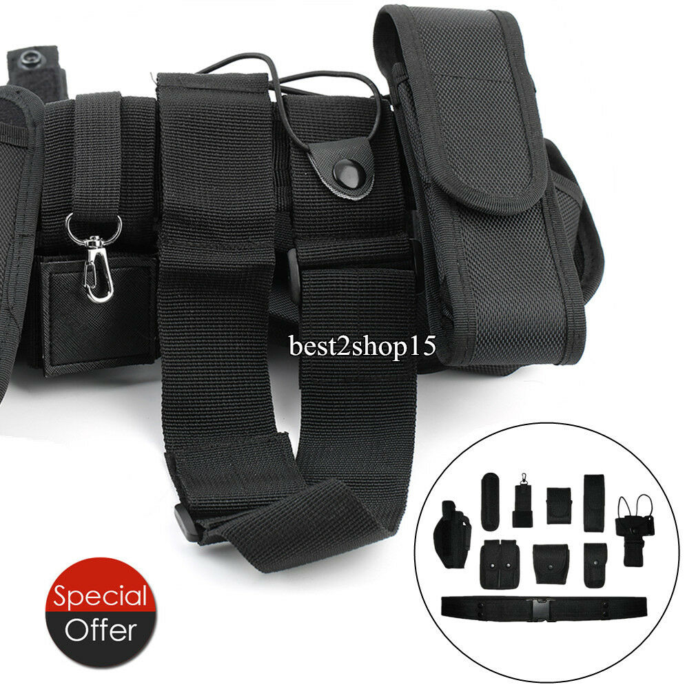 15 Police Security Guard Modular Enforcement Equipment Duty Belt Tactical Nylon
