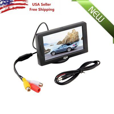 Car Rear View System Backup Reverse Camera Night Vision 4 3  Tft Lcd Monitor Oy