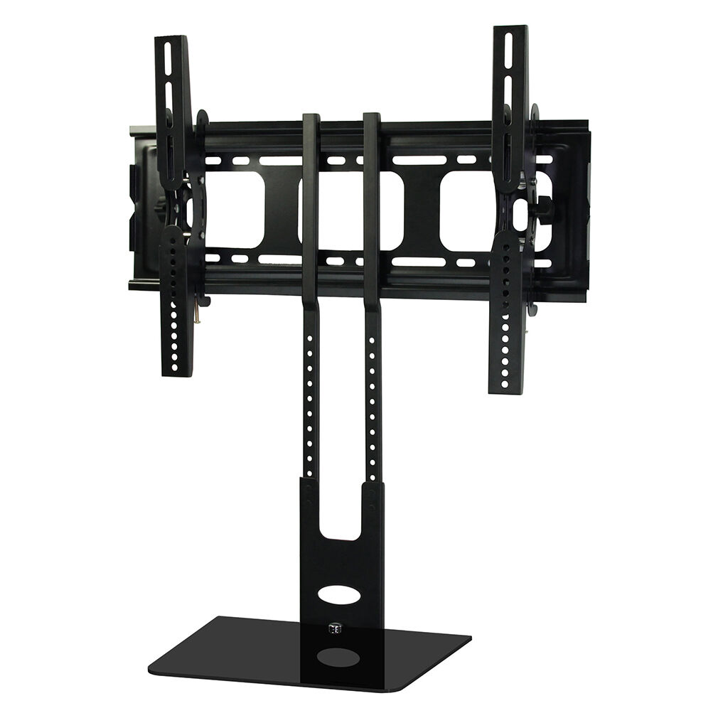 plasma lcd flat screen panel tv stand mount shelf floor stand fit 32 70 tv ub ebay. Black Bedroom Furniture Sets. Home Design Ideas