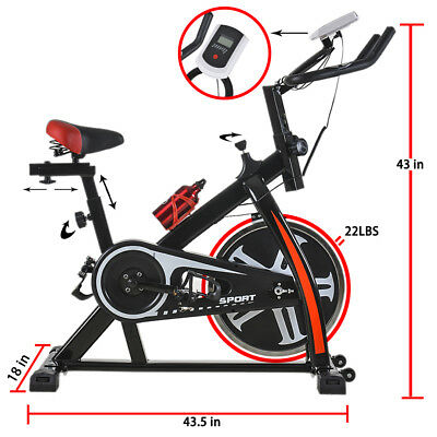 Купить FDW SPB-1508-Black - Black Bicycle Cycling Fitness Exercise Stationary Bike Cardio Home Indoor 508