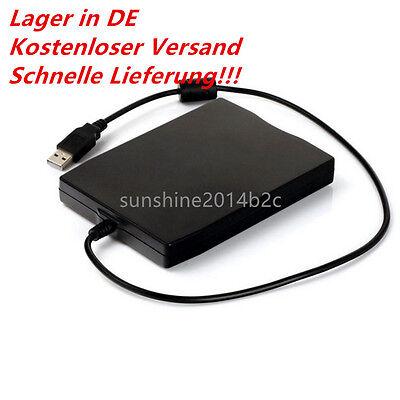 USB Floppy Disk Diskettenlaufwerk schwarz extern auch für Windows