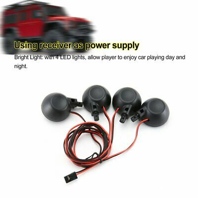 Car Parts - 4 LED Lights Receiver Kit for 1/5 HPI BAJA Rovan King Motor 5B RC CAR PARTS Uk