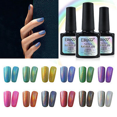 Elite99 Colorful Rainbow Holographic UV Gel Polish Soak Off