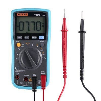 6000 Count Portable True Rms Digital Multimeter Acdc Ammeter Fathers Day Gifts