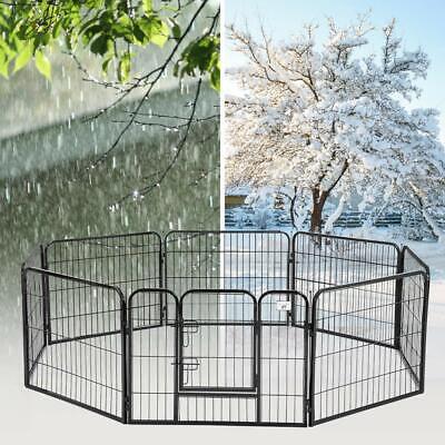 BestPet 24″*32″ Heavy Duty 8 Panel Folding Metal Pet Playpen Dog Exercise Fence Dog Supplies