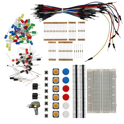 Electronic Starter Kit For Arduino Resistor Buzzer Breadboard Led Dupont  Rm