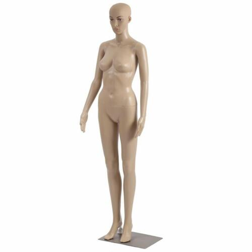 Female Full Body Realistic Mannequin Display Head Turns Dress Form wBase 175