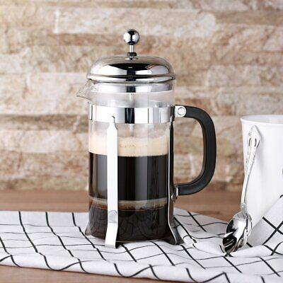 French Press Coffee Maker Tea Maker Stainless Steel Filter Glass Chrome 32oz - Chrome Steel Coffee Press