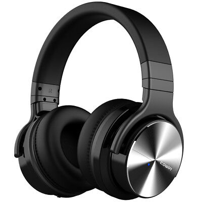 COWIN E7 PRO [2018 Upgrade] Active Noise Cancelling Bluetooth Headphones - Black